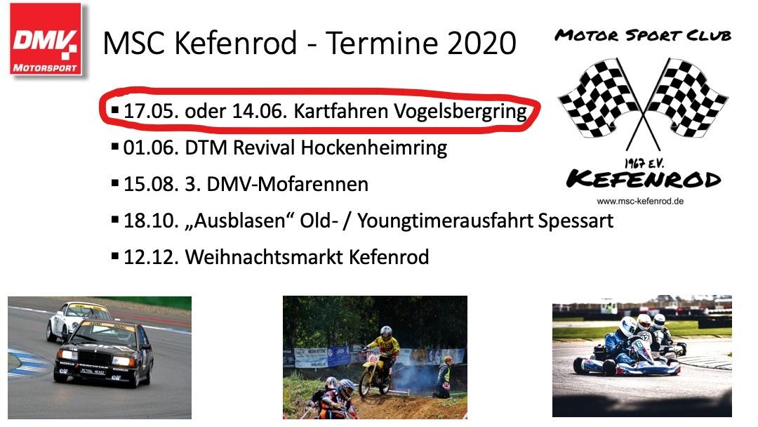 MSC-Kefenrod e.V. im DMV: Kartfahren für Mitglieder auf dem Vogelsbergring in Wittgenborn