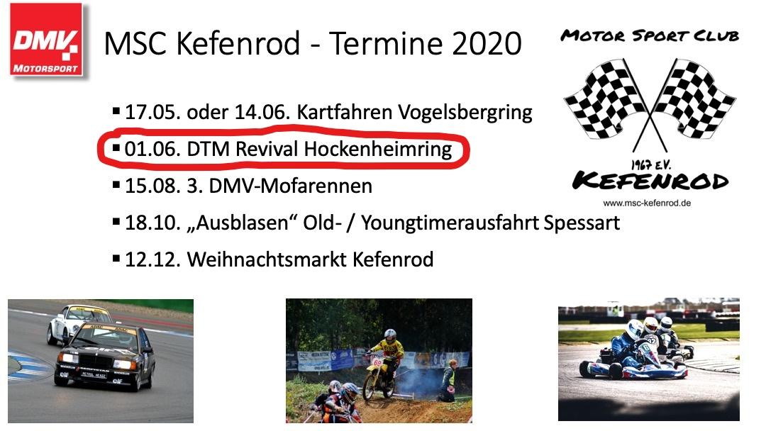 MSC-Kefenrod e.V. im DMV: DTM Revival auf dem Hockenheimring